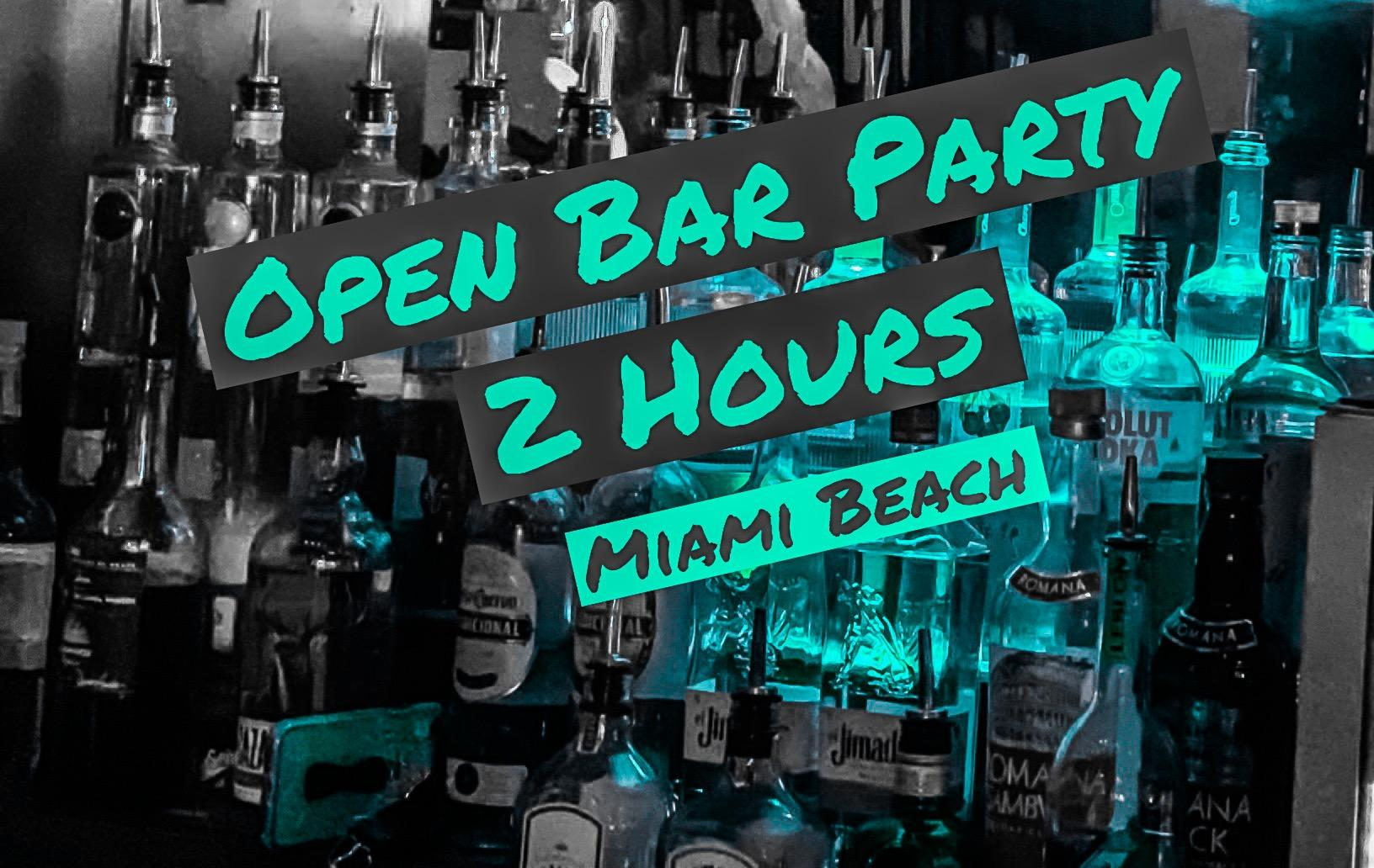 OPEN BAR 2 HRS - Unlimited Drinks in Miami Beach @ Señor Frog's, Mon 2/17 10:00pm